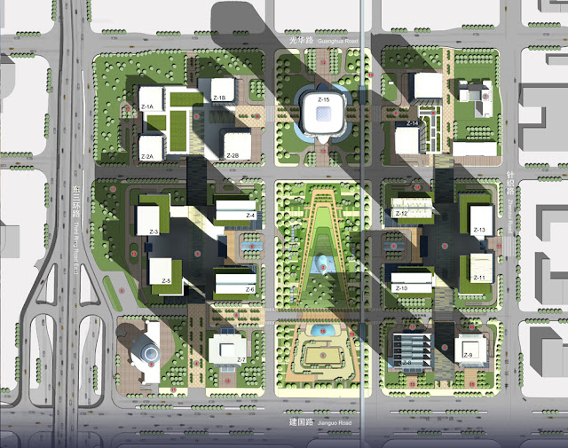 Masterplan of China Zun complex (CITIC Plaza) by TFP Farrells, Beijing, China
