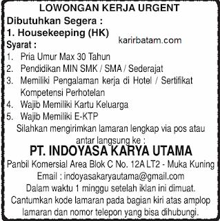 Lowonga Kerja PT. Indoyasa Karya Utama