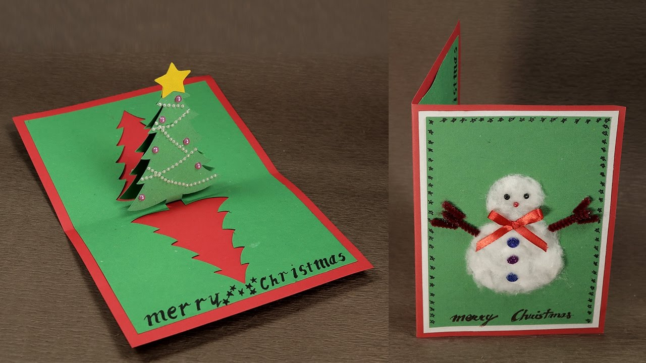 How to make diy pop up christmas card with tree and snowman how to make diy pop up christmas card with tree and snowman kristyandbryce Choice Image