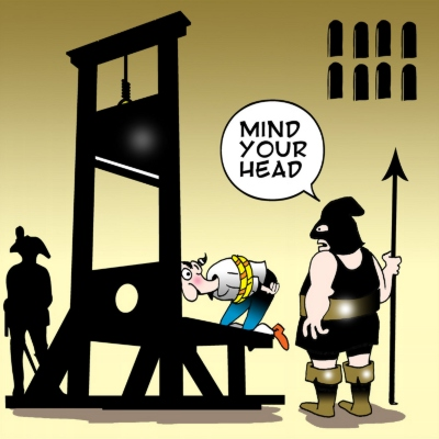 Mind your head - guillotine - Pas på hovedet
