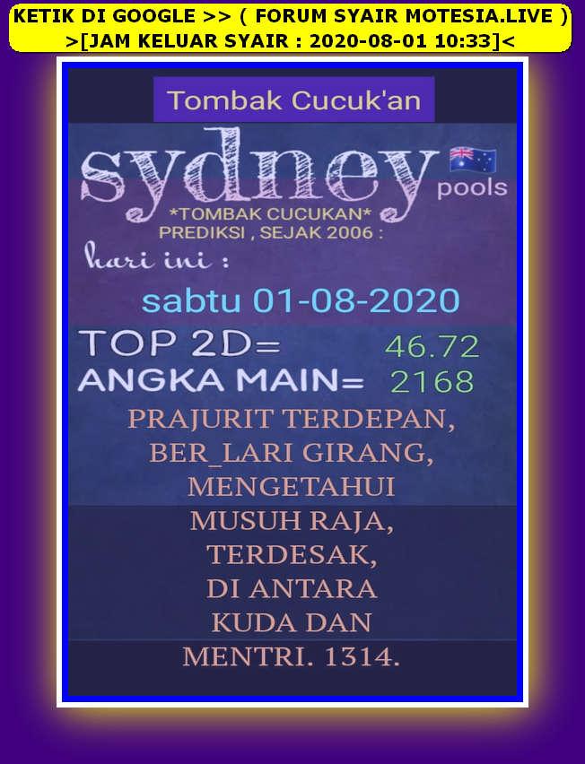 Kode syair Sydney Sabtu 1 Agustus 2020 26