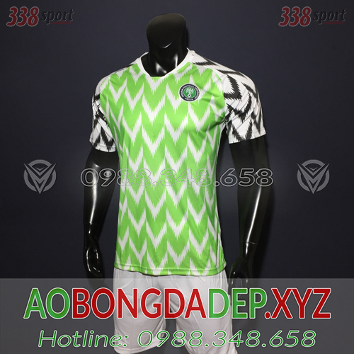 Áo Nigeria 2019 Sân Nhà Màu Trắng Xanh Đẹp