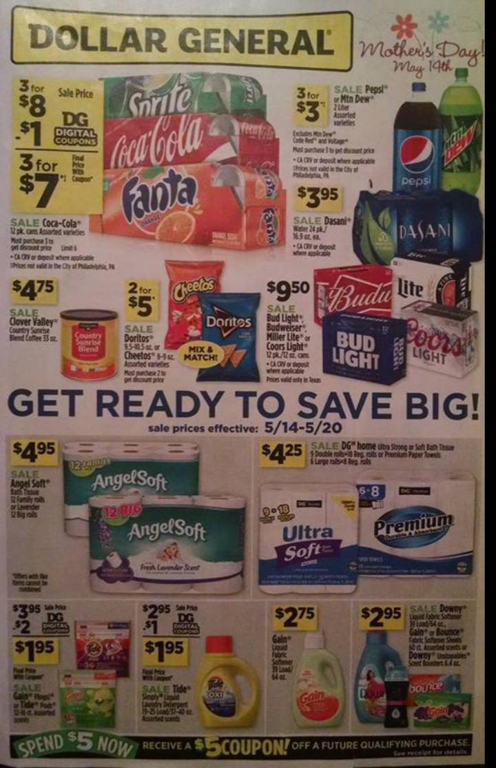 My coupons dollar general