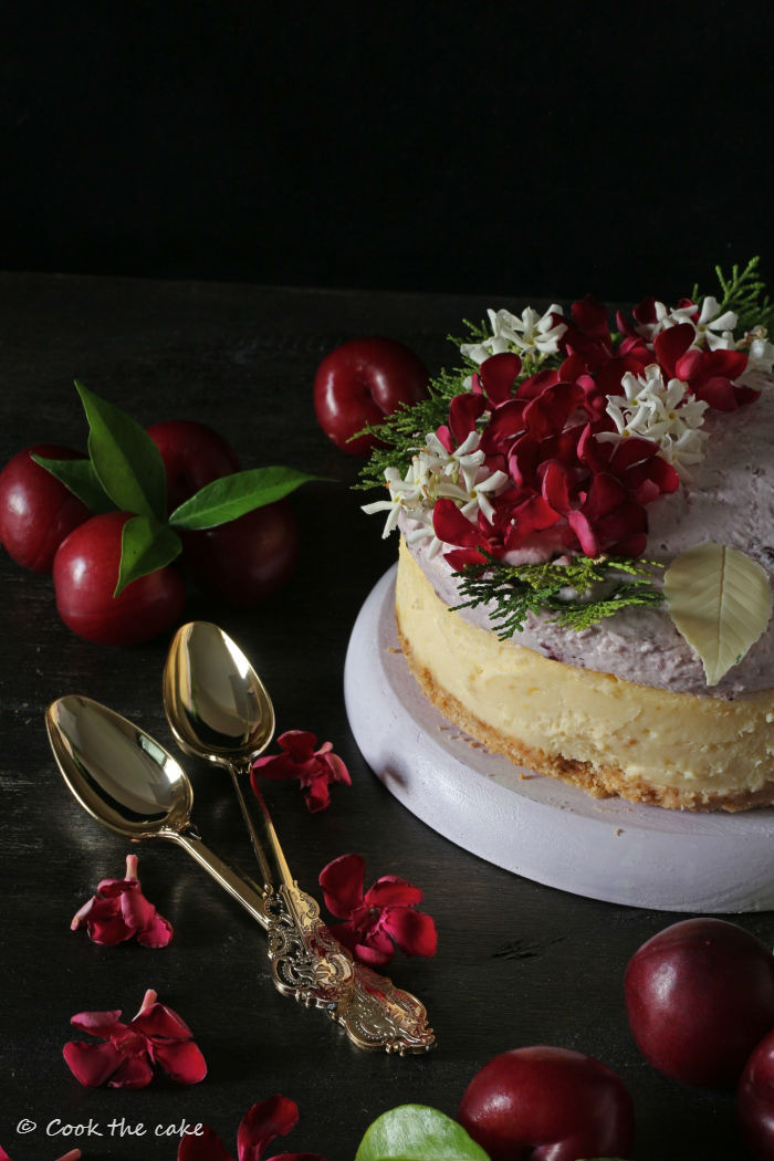 plum-cheesecake, cheesecake-de-ciruelas