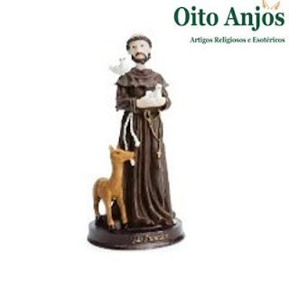 Imagem São Francisco  * Oito Anjos Artigos Religiosos e Loja Esotérica