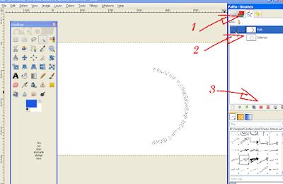Cara Memutar Teks Melengkung di GIMP2