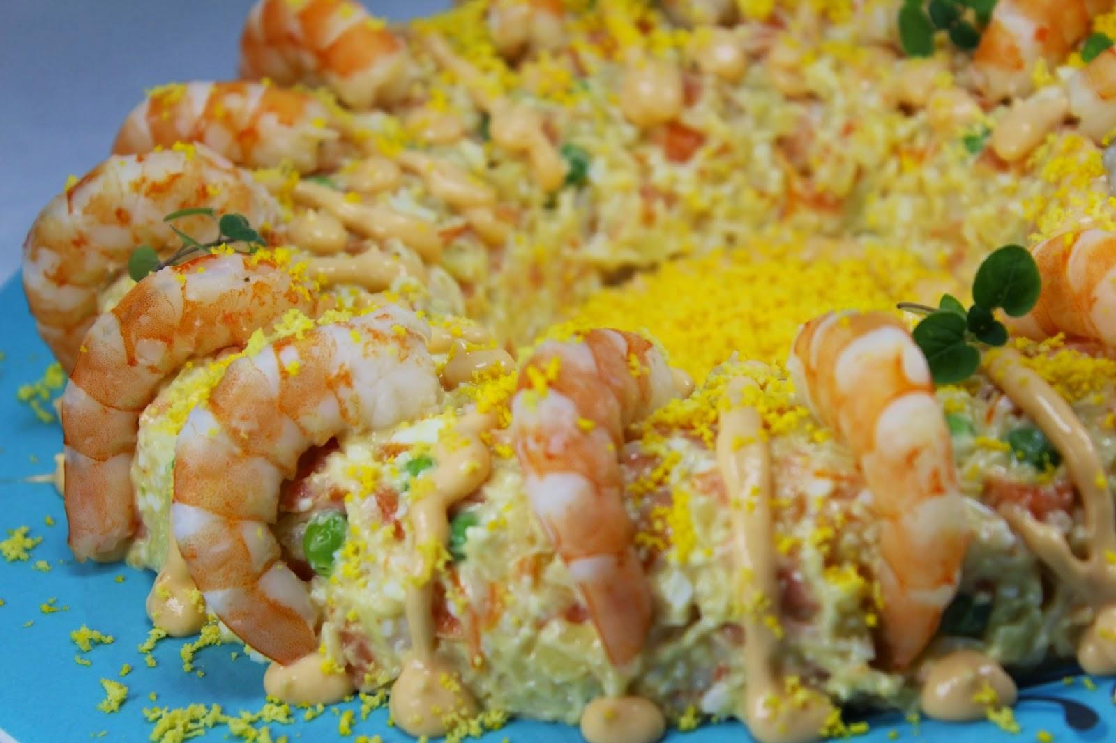 Ensaladilla de langostinos Ana Sevilla cocina tradicional