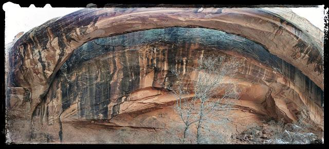 Front of Morning Glory Natural Bridge in Grandstaff Canyon Trail Moab, Utah