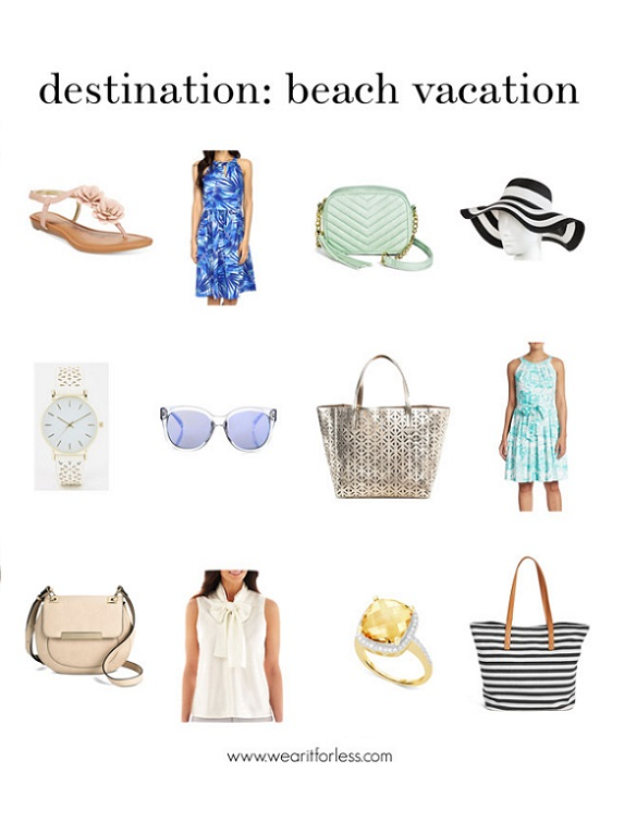 sandals, dresses, crossbody bags, hats, watches, tops, all under $50, summer 2016 collection, what to wear to the beach, what to wear on a beach vacation