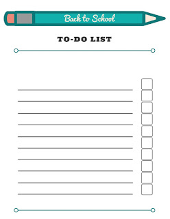 Back to School Checklists - free printable