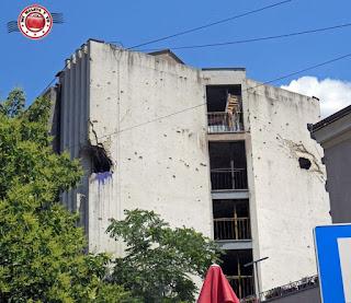 Heridas de la guerra en Mostar, Bosnia y Herzegovina