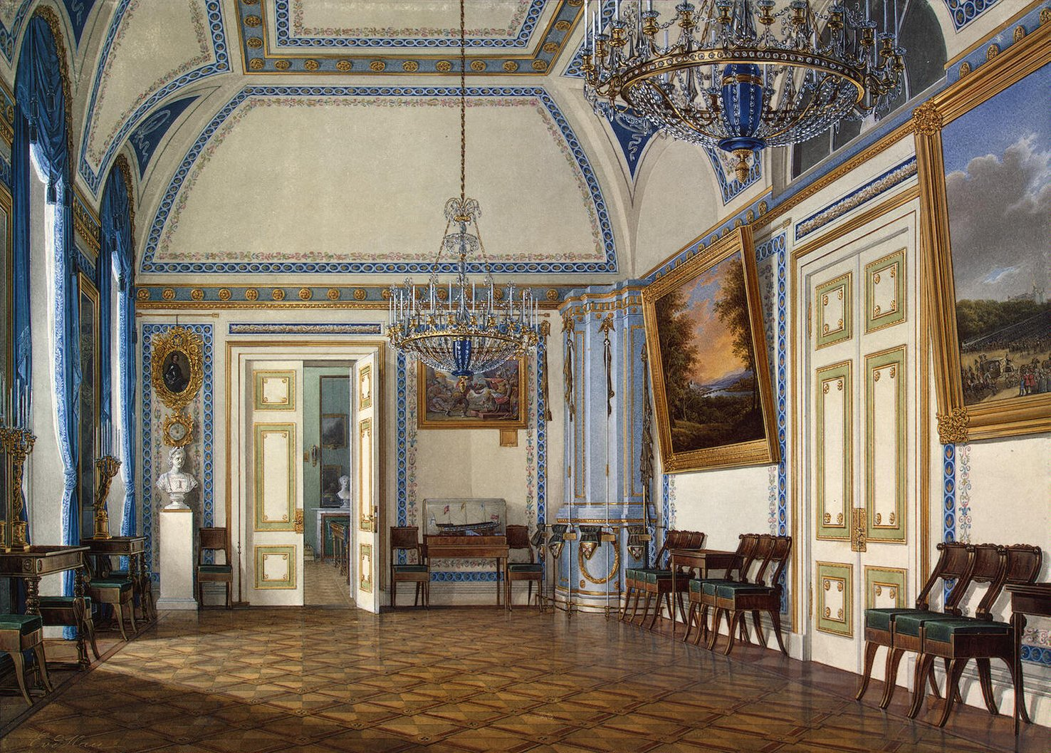winter palace research alexander ii s reception room in. Black Bedroom Furniture Sets. Home Design Ideas