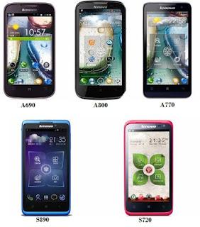 Daftar Harga Lenovo Android Terbaru April 2013