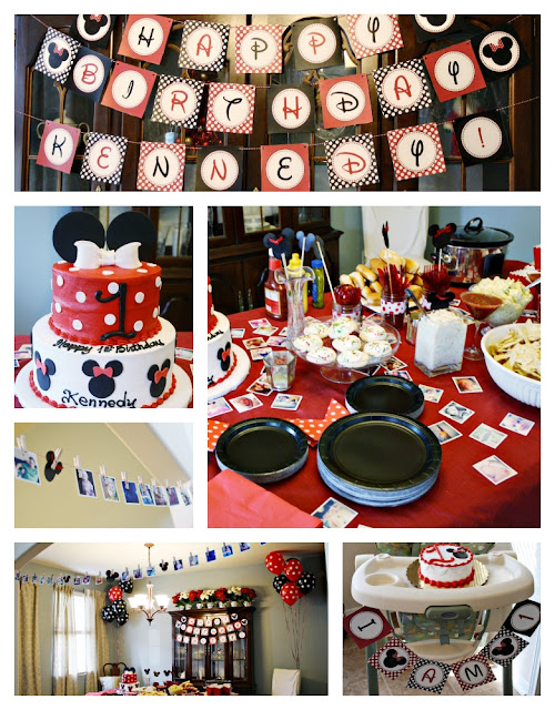 minnie mouse first birthday, instagram garland, minnie mouse cake, minnie mouse banner