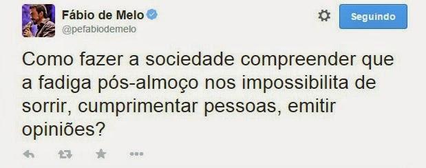 Tweets Fabio de Melo Engraçado