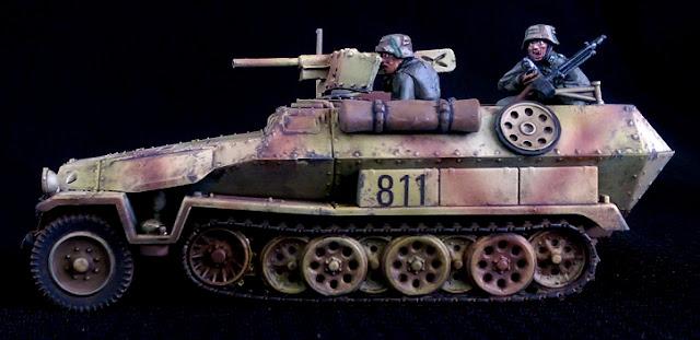 1/56 Panzer Lehr Command Half track 251/10 3.7mm Pak