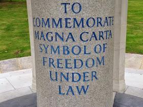 Magna Carta memorial text