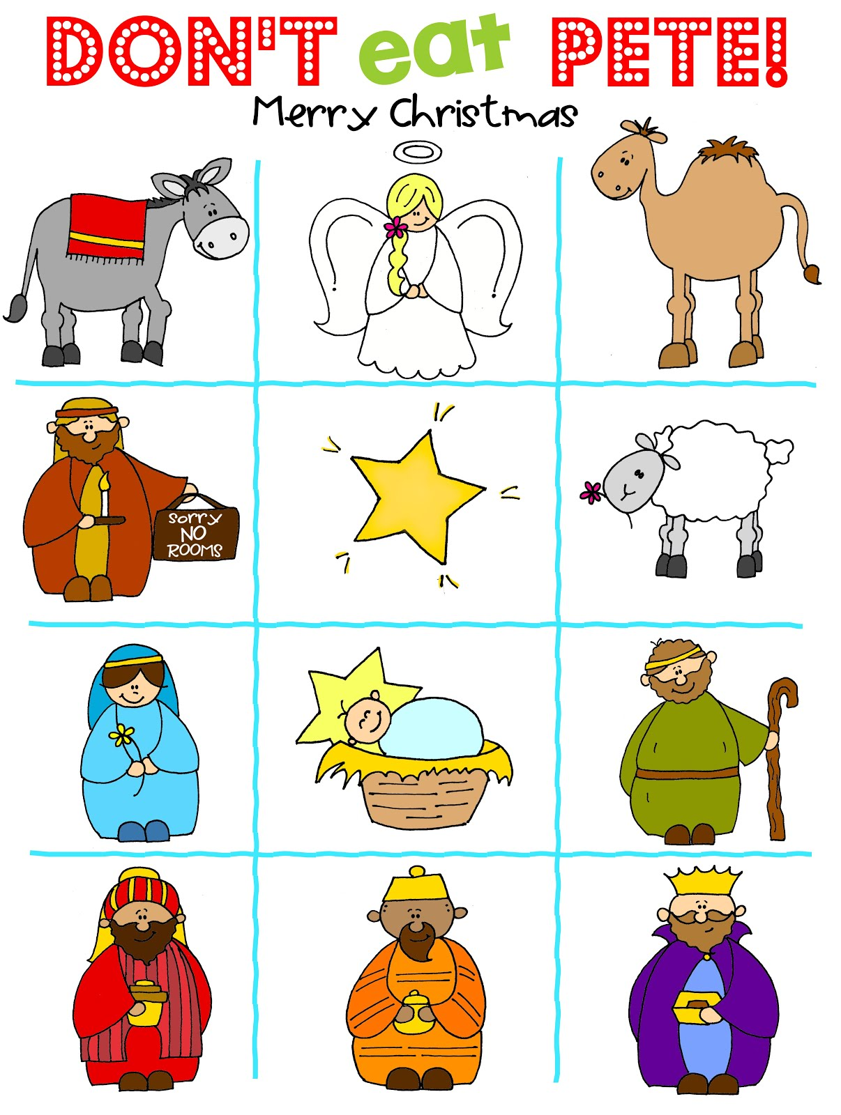 image regarding Don T Eat Pete Printable titled Dont Try to eat Pete - Nativity model Cost-free PRINTABLE