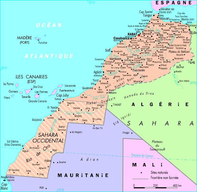 خريطة المغرب Morocco Map