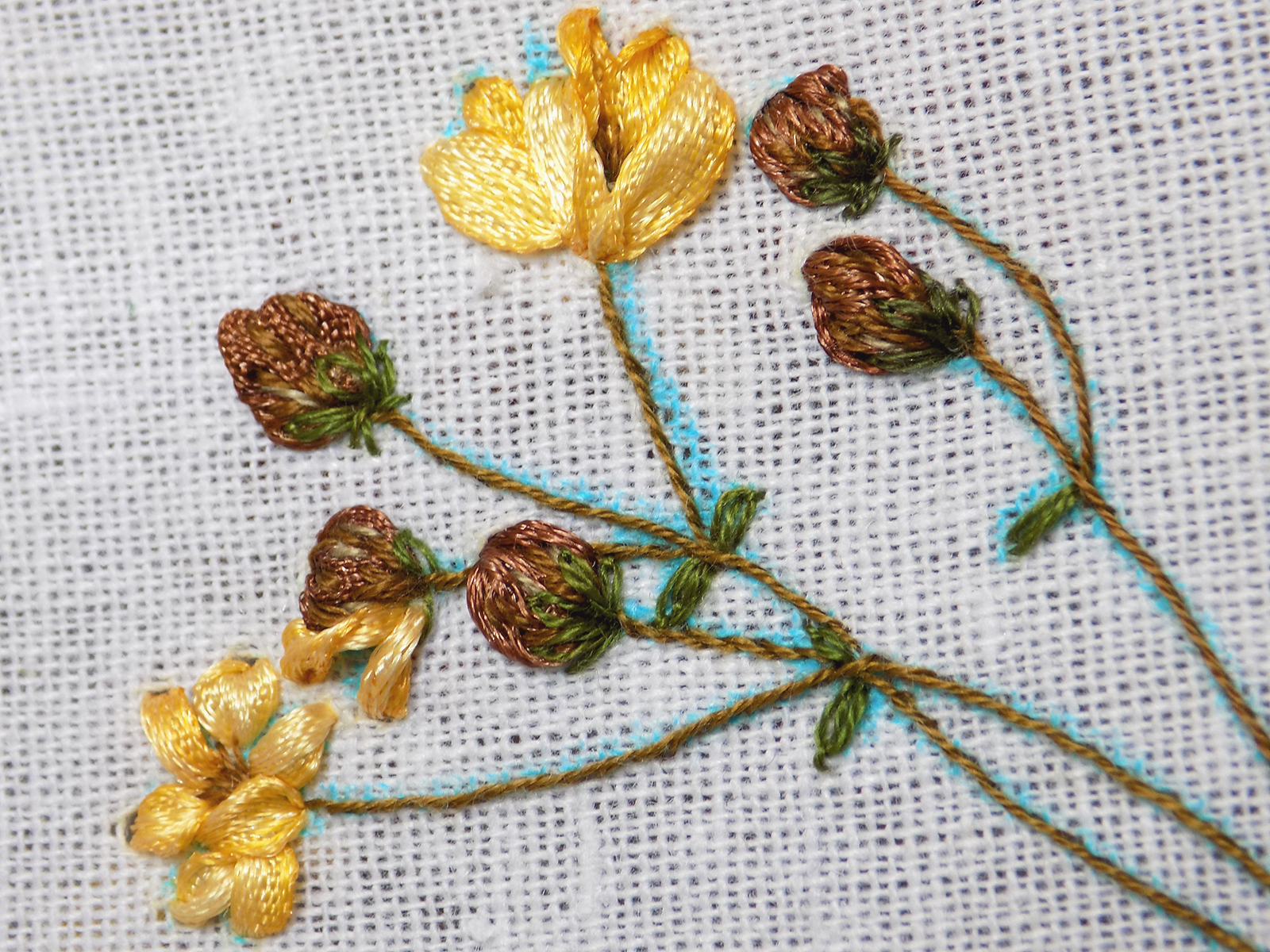 Bur Marigold Project Part 2 And A Ribbon Embroidery Tutorial