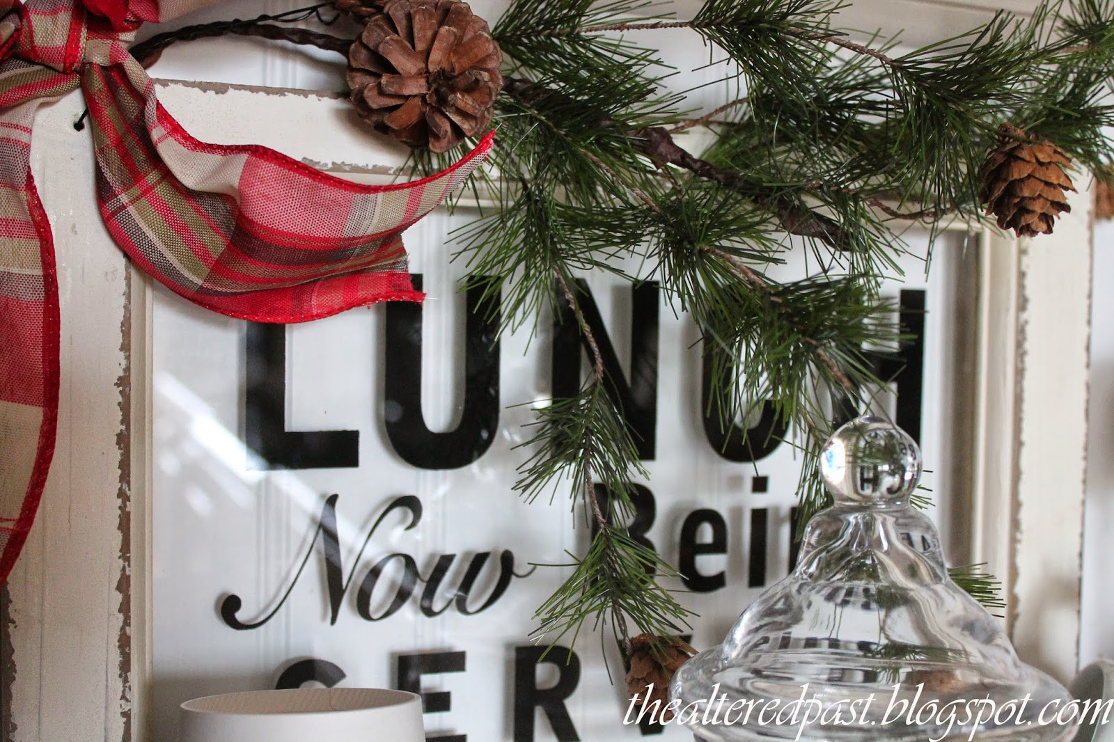 christmas home decor, beverage station, the altered past