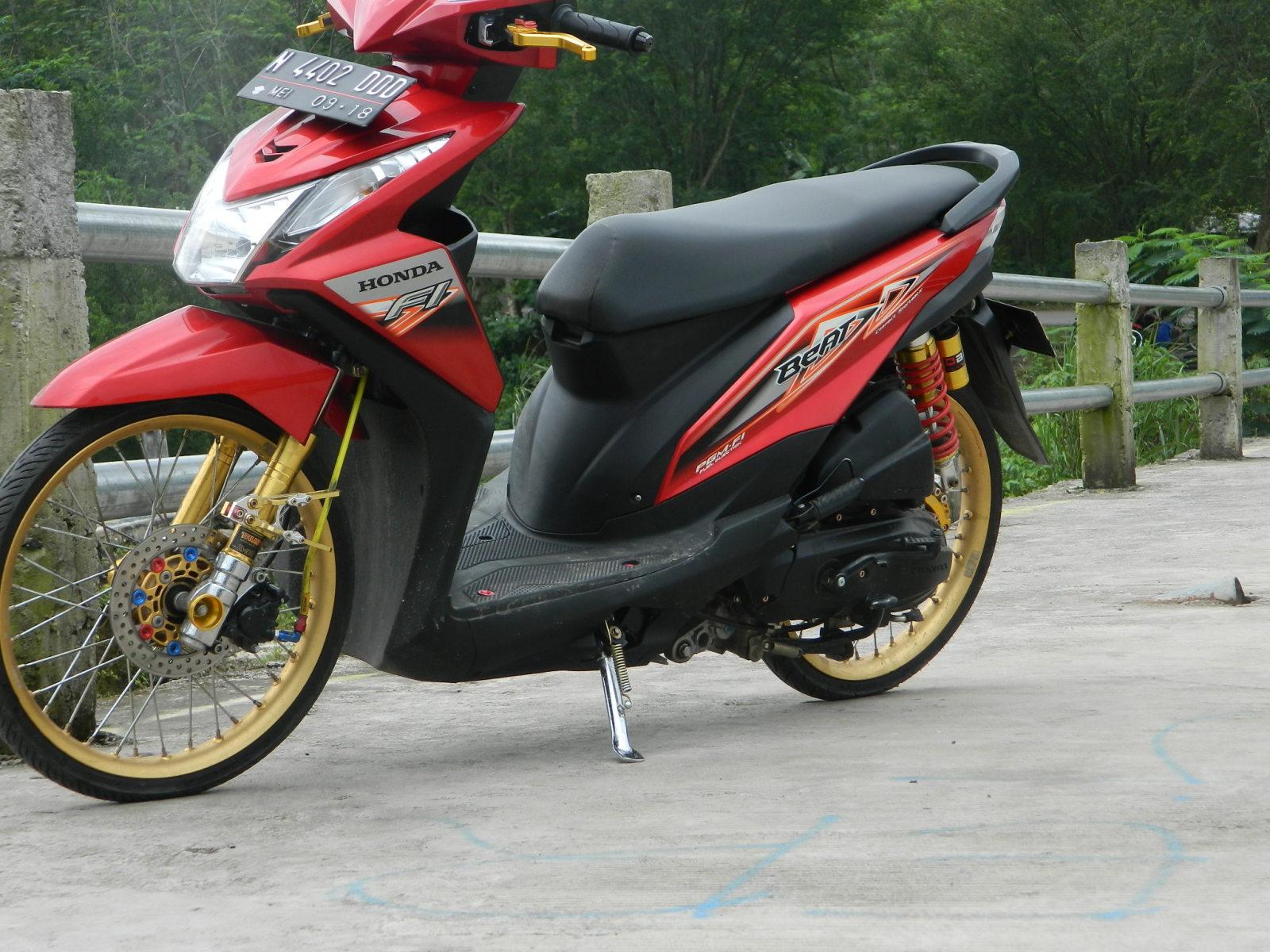 100 Biaya Modif Honda Beat Velg 17 Modifikasi Motor Beat Terbaru