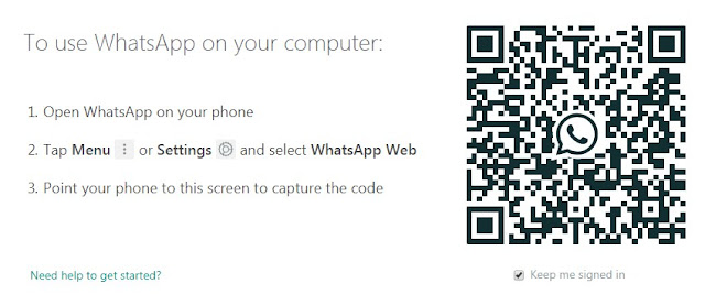 Gambar petunjuk untuk menggunakan wa web