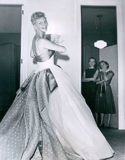 Mary Martin in Dotted Swiss Evening Gown  1959 Easter TV Special