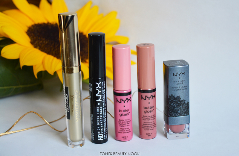 nyx max factor makeup haul