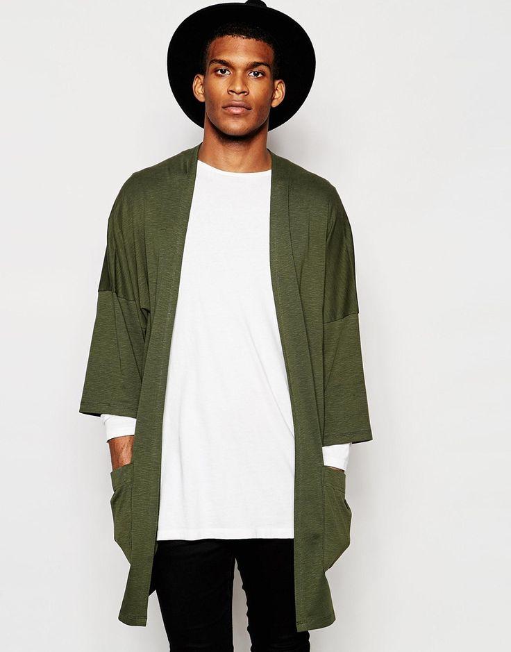Look Masculino com Kimono Verde
