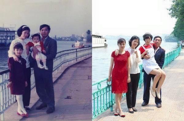 foto unik keluarga yang tidak berubah momennya setelah puluhan tahun-7