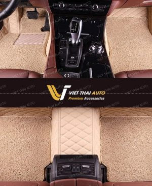 thảm lót sàn ô tô 6d màu kem