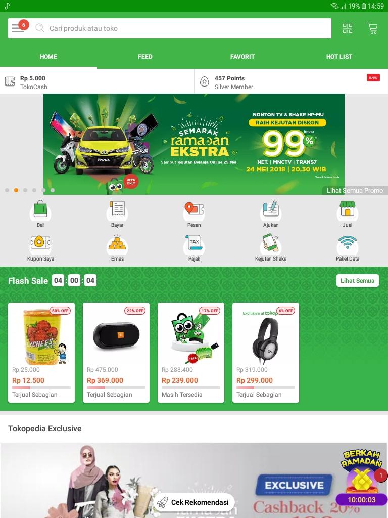 Kejutan Belanja Online Spesial Ramadhan Extra Tokopedia 24 - 25 Mei 2018