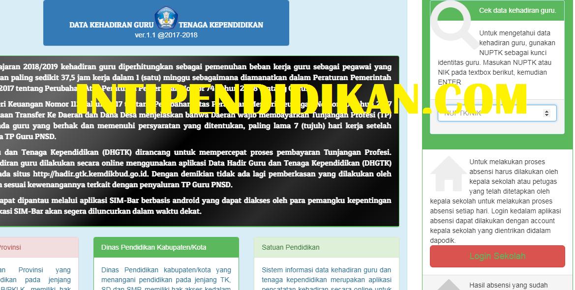 Mencetak Sptjm Absen Online Dhgtk Untuk Tunjangan Sertifikasi Inti
