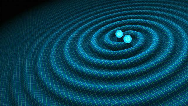 Ilustração artística - ondas gravitacionais - R. Hurt - Caltech-JPL