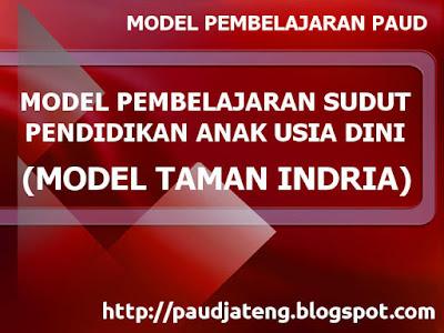 Model Pengelolaan Kelas PAUD 2 : Model Sudut