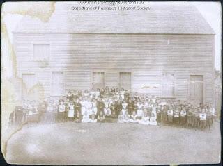 St. John's School, Brunswick, Maine circa 1900. French-Canadian school in New England.