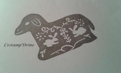 defi gravure tampon mouton pâques