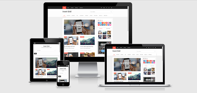 Invert Grid Responsive and SEO Friendly Blogger Template