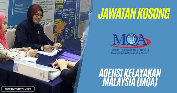 jawatan kosong Agensi Kelayakan Malaysia (MQA) 2018