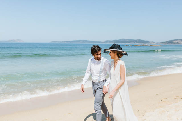 galicia boda playa beach wedding otaduy vestido novia