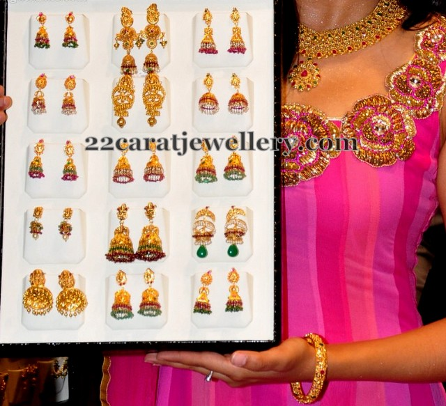 Fancy Lights Shops In Hyderabad: Jos Alukkas Jhumkas Collection