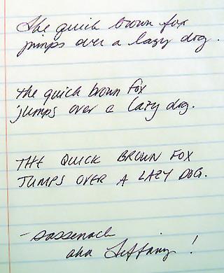 Sağa yatık italik el yazısı