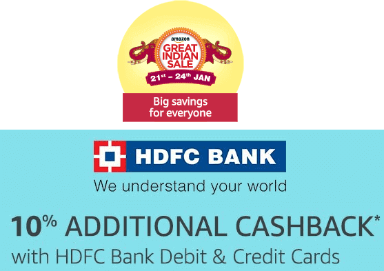additional cashback on HDFC Bank Card on Amazon Sale 2018