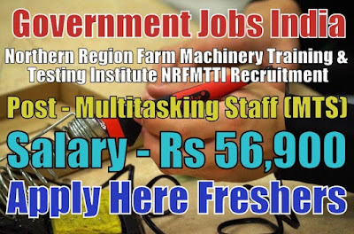 NRFMTTI Recruitment 2018 for MTS Posts