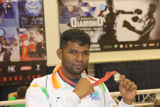 "Girish R Gowda- ""The Silver Medal winner"" in the World Cup Diamond"