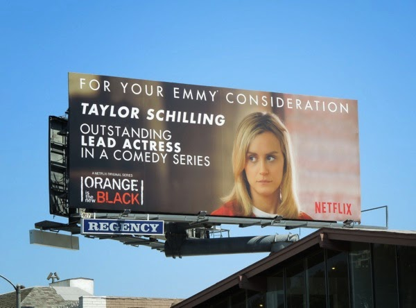 Taylor Schilling Orange is the New Black 2014 Emmy billboard