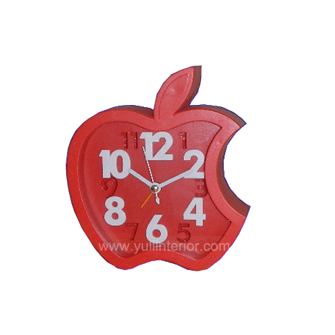 Red Apple shaped Alarm and Table Clock, Nigeria