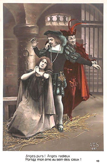 Carte postale d'une scène de Faust de Gounod - Bru Zane