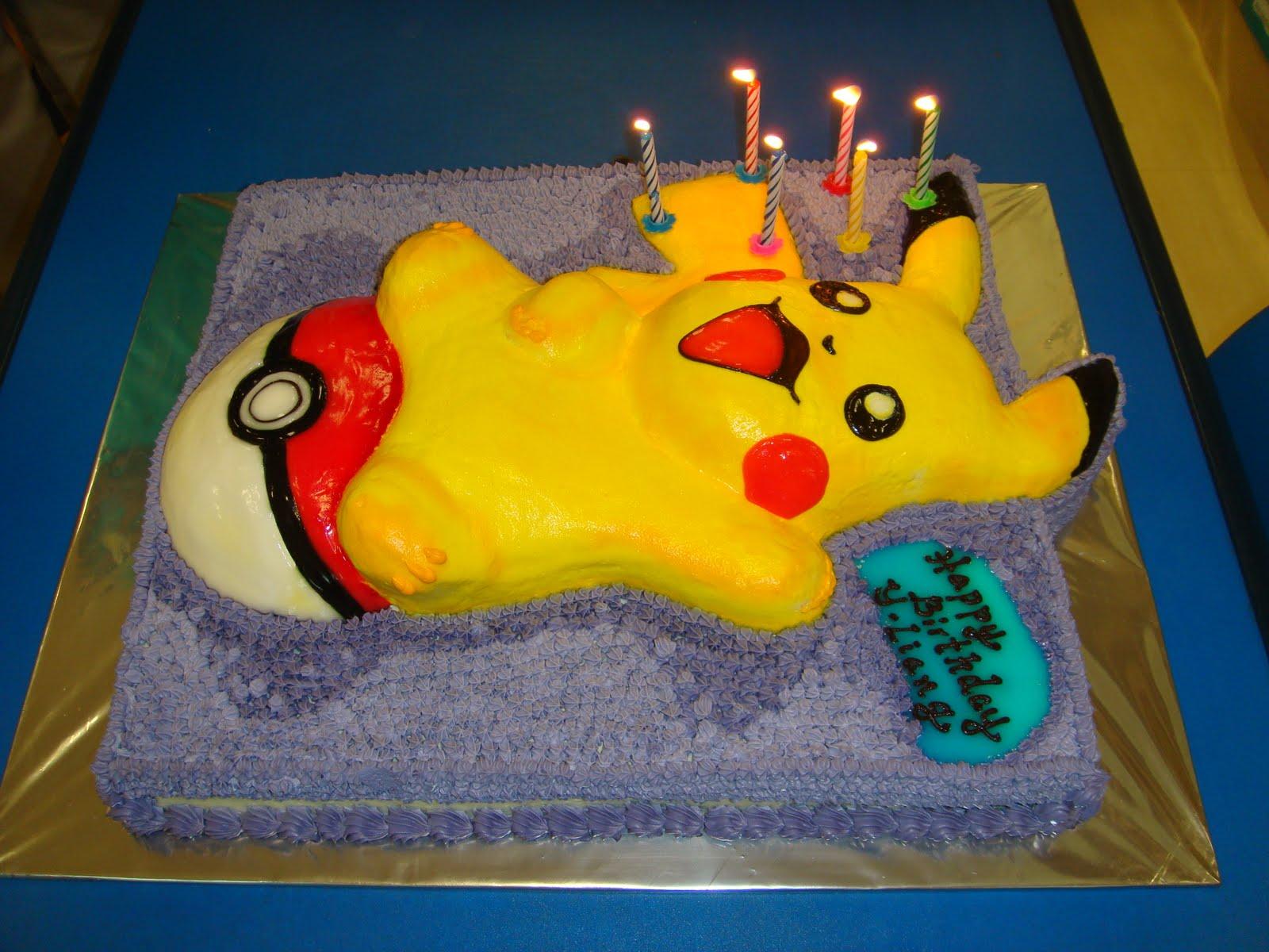 Yummy Baking Pokemon Pikachu Fresh Cream Cake